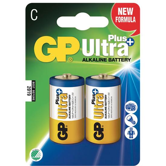 BATTERI GP C/LR14 ULTRA+ ALKALINE 2-PK SV (70UALCLR142)