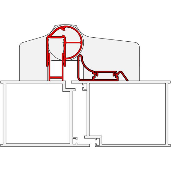 KLEMSIKRING BO-13 HENGSELSIDE SNAP-IN L=1980MM ALU.SØLV (847BO1301)